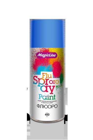 Краска аэрозольная;флюоресцентная для металлов;для пластика;для стекла;для дерева MagicLine Флюоро (RUNWAY)