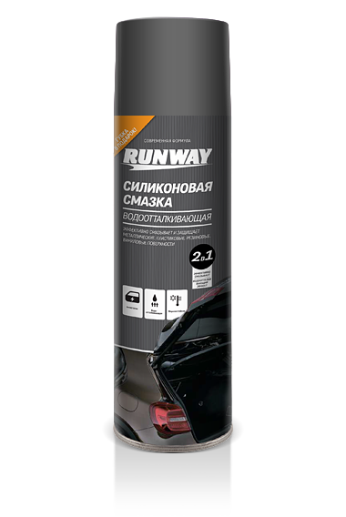 Смазка силиконовая;антистатик для резиновых уплотнителей Silicone Spray (RUNWAY)